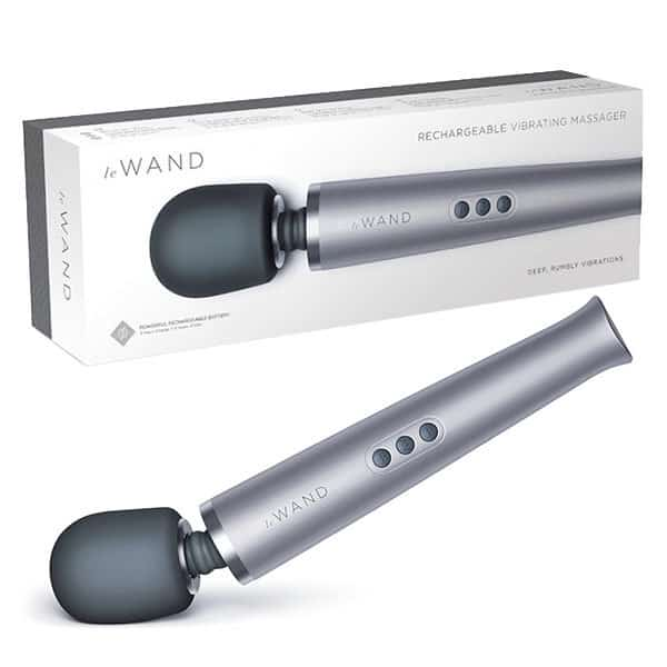 Le Wand Rechargeable Vibrating Massager (Grey) Box