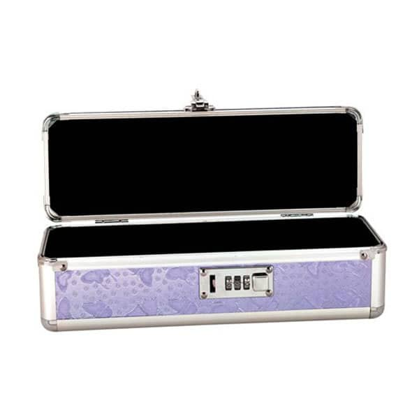 Lockable Storage Case Medium (Purple) Open