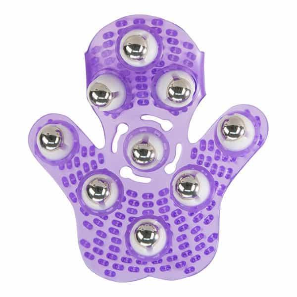 Roller Ball Massage Glove (Purple)