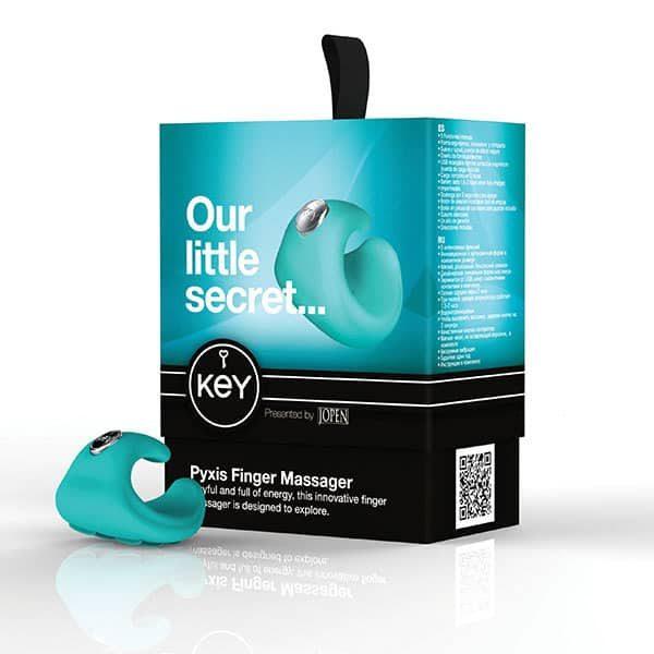 Key by Jopen Pyxis Finger Massager (Robin Egg Blue) Box