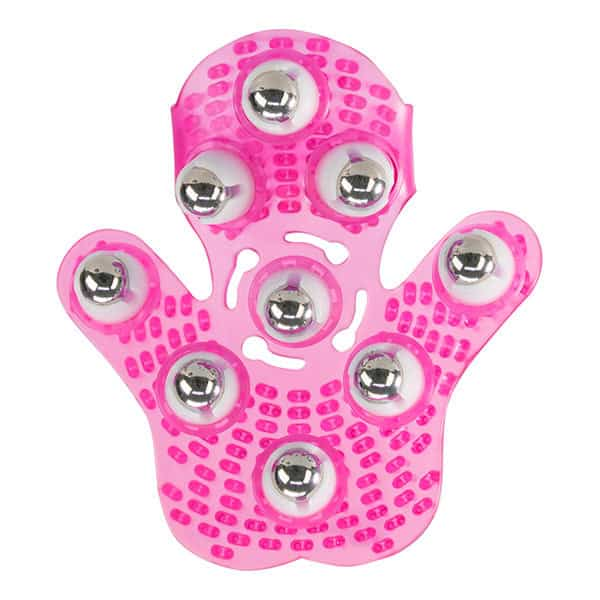 Roller Ball Massage Glove (Pink)