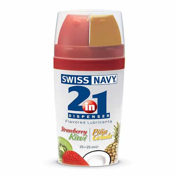 Swiss Navy 2 in 1 Personal Lubricants (Strawberry Kiwi & Pina Colada)