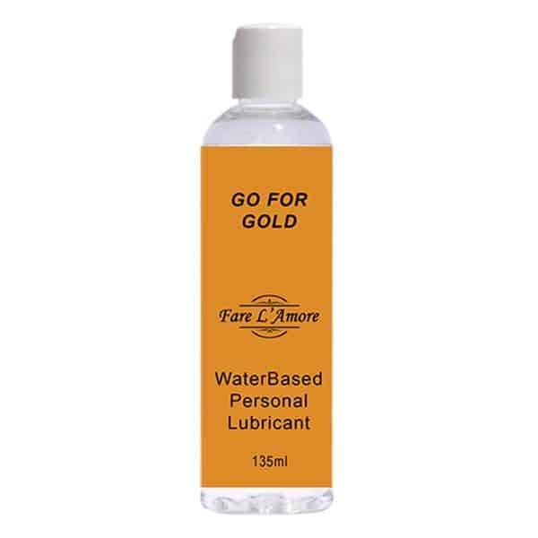 Fare L'Amore Go For Gold Water Based Personal Lubricant 135ml