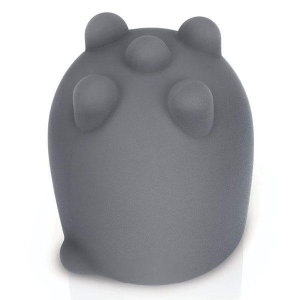 Le Wand Shiatsu Deep Tissue Attachment (Grey) Top View