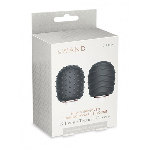 Le Wand Original Texture Covers 2-Pack (Dark Grey)