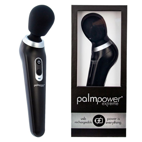 PalmPower Extreme (Black) | Rechargeable Massage Wands
