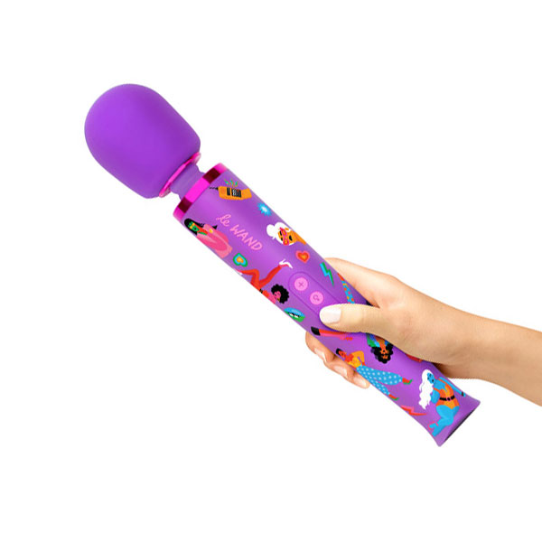 Le Wand Feel My Power Massage Wand (Jade Purple Brown)